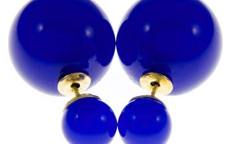 Fashion Icon Náušnice kuličky průhledné oboustranné