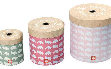 Sada 3 krabic Done by Deer, růžová