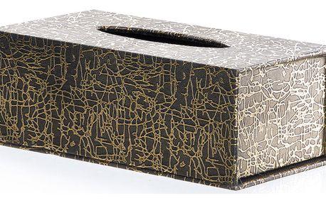 Krabička na papírové kapesníky Zlaté dekorace