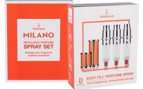 Travalo Milano 3x5 ml plnitelný flakón unisex Orange