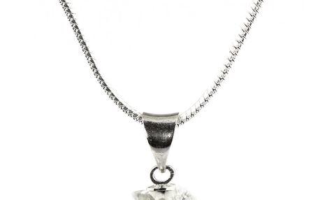 Fashion Icon Přívěsek kulička malá s krystaly+řetízek ZDARMA