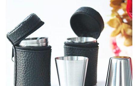 Cestovní sada panákových skleniček - 4 kusy