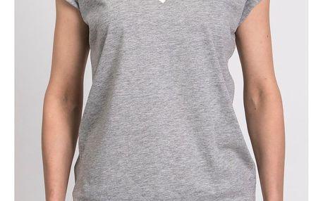 Dámské šedé triko z organické bavlny s motivem Spolu od Lény Brauner & IM Cyber pro KlokArt, vel.M