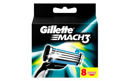 Gillette Mach 3 náhradní břity k holicímu strojku 8 ks