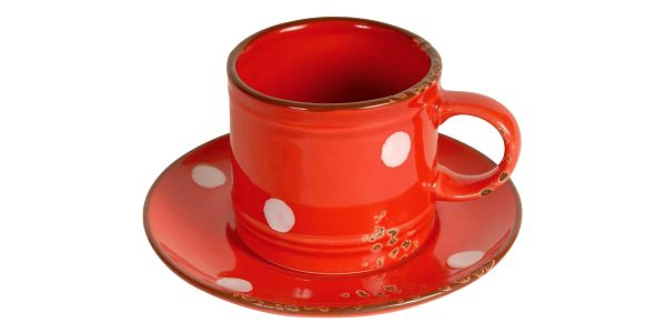 Hrnek s podšálkem Antic Line Cup Red