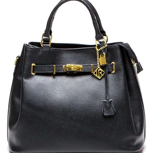 Černá kožená kabelka Isabella Rhea Lupe - doprava zdarma!