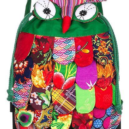 Fashion Icon Patchwork batoh se sovičkou latkový ruční prace