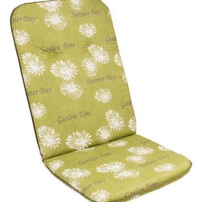 sun garden SCALA HOCH 30368-211 Sedák na vysoké křeslo zelená květina