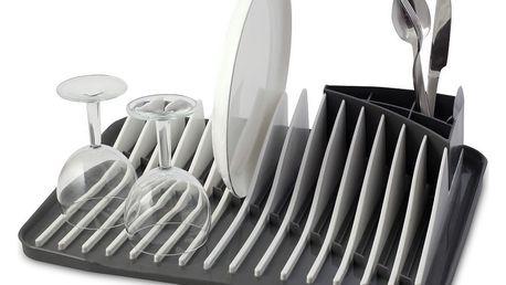Šedobílý odkapávač na nádobí Vialli Design Piano