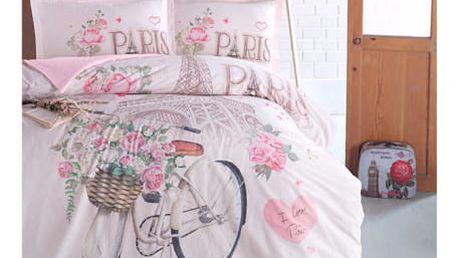 CLASY Bavlněné povlečení PARIS LOVE 140x200, 70x90