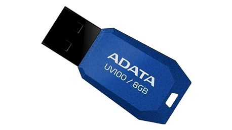 USB Flash ADATA DashDrive UV100 8GB modrý (AUV100-8G-RBL)