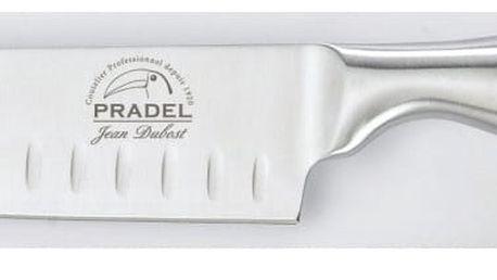 Nůž z nerezové oceli Jean Dubost Santoku, 17cm