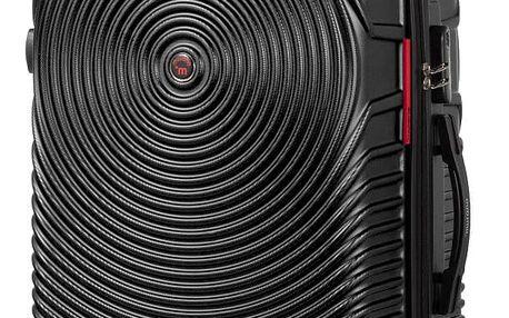 Černý kufr na kolečkách Murano Traveller, 65 x 40 cm
