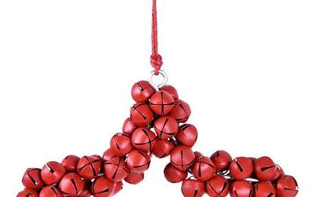 Závěsná dekorativní hvězda z rolniček Ego Dekor Bells