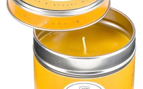 Aroma svíčka v plechovce s vůní pomeranče a jantaru Copenhagen Candles, doba hoření 32 hodin