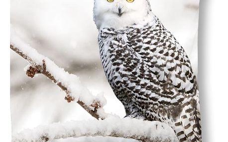Povlak na polštář Muller Textiels Snowy Owl, 50x50cm