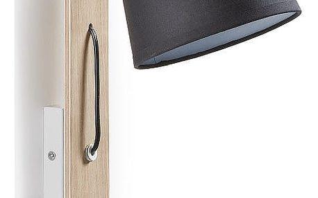 Černá nástěnná lampa La Forma Percy