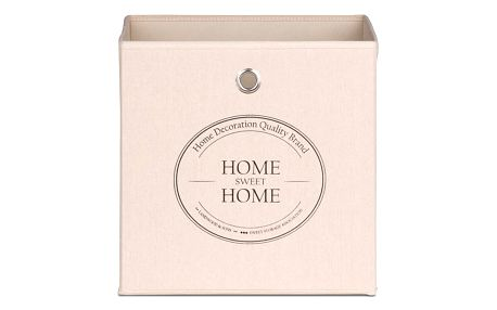 Béžový úložný box Intertrade Alfa Home Sweet Home