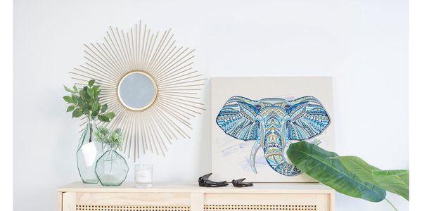 Dřevěná nástěnná dekorativní cedule Surdic Lino Elephant, 50 x 70 cm2