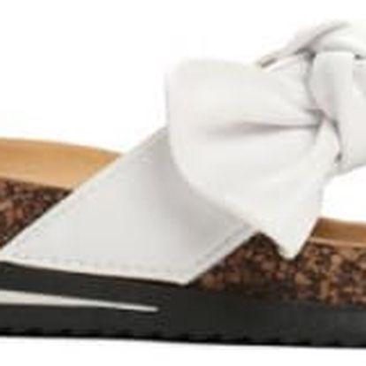 Dámské bílé pantofle Monique 6246