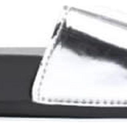 Dámské stříbrné pantofle Style 10761G