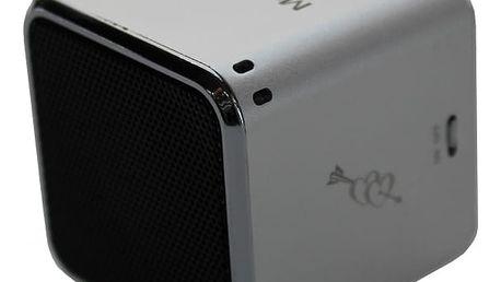 Přenosný reproduktor Technaxx Mini MusicMan stříbrný (3528)