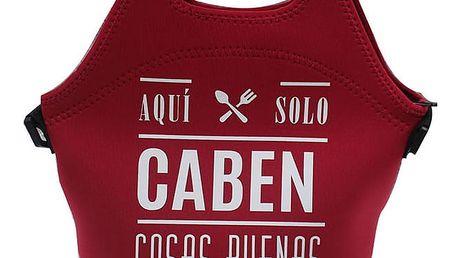Červená svačinová taška z neoprenu Bergner Good Things, 30 x 30 cm