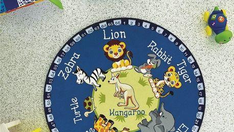 Dětský koberec Animal World,⌀133cm
