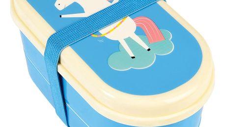 Modrý obědový box s jednorožcem Rex London Magical Unicorn