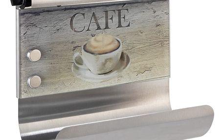 Magnetický držák na utěrky s dávkovačem na fólie Wenko Café
