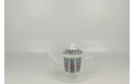 Skleněná konvička s porcelánovým sítkem Duo Gift Maroko, 1200 ml