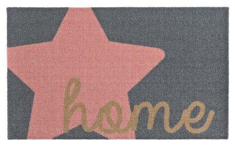 Šedorůžová rohožka Zala Living Design Star Home Grey Pink, 50x70cm