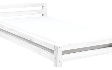 Bílá jednolůžková postel z borovicového dřeva Benlemi Single,90x180cm