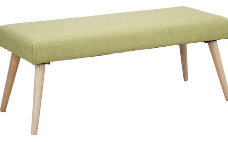 Světle zelená lavice s nohami z kaučukovníkového dřeva Mauro Ferretti Anca