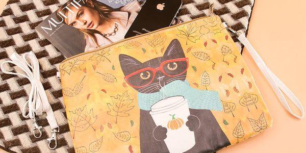 Fashion Icon Psaníčko Etno kočka pouzdro na tablet