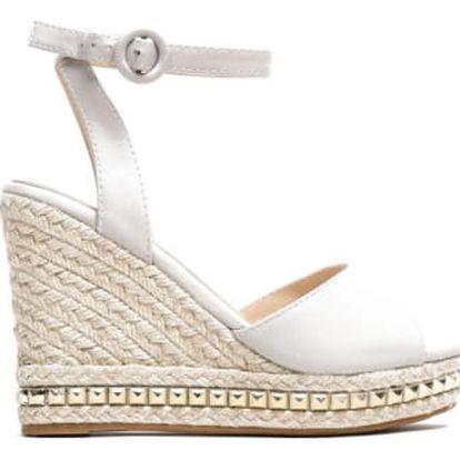 Dámské šedé sandály na klínku Carlita 2084