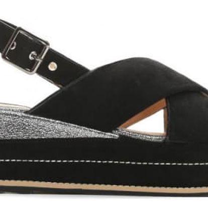 Dámské černé sandály na platformě Silvia 9212