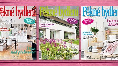 Tříměsíční předplatné časopisu Pěkné bydlení