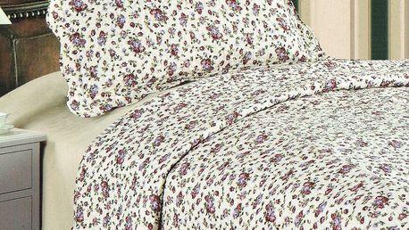 Přehoz na postel Flowers, 140 x 200 cm, 1x 50 x 70 cm
