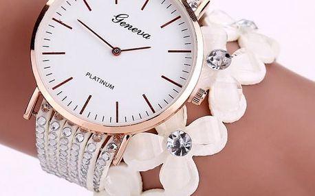 Dámské hodinky s kamínky a květinami - 9 variant
