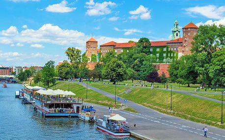 Královský Krakov v hotelu se stylovými zámeckými pokoji s bazénem, saunou, snídaněmi a balíčkem slev