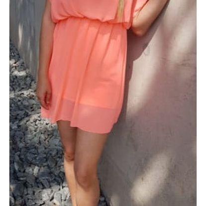 Vzdušné dámské šaty Marilyn - Oranžové - SLEVA