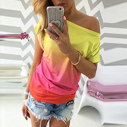 Dámské tričko v ombré stylu - 3 varianty