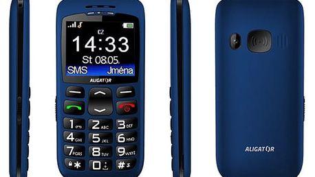 Mobilní telefon Aligator A670 Senior modrý (A670BE)