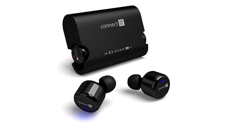 Sluchátka Connect IT True Wireless HYPER-BASS Bluetooth černé (CEP-9000-BK)