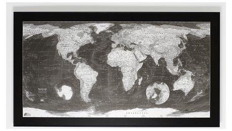 Mapa světa The Future Mapping Company Monochrome World Map, 130x72cm