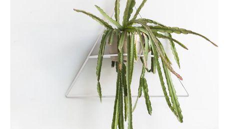 Bílý nástěnný držák na květináč Surdic Triangle