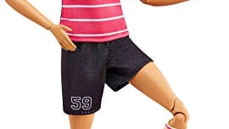 MATTEL BARBIE Sportovkyně – fotbalistka brunetka