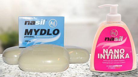 Přírodní mýdlo a intimní gel s nanostříbrem