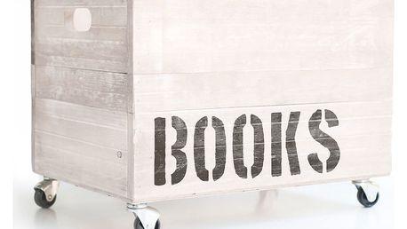 Bílá dřevěná krabice na knihy Little Nice Things Books